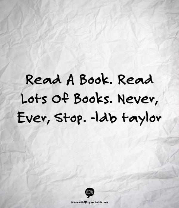 Recite read a book